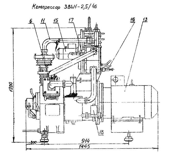 Компрессор-3ВШ1-2.5-46